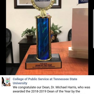 Dean CPS, Dr. Michael Harris, Awarded the 2018-2019 Dean of the Year – Tennessee State University