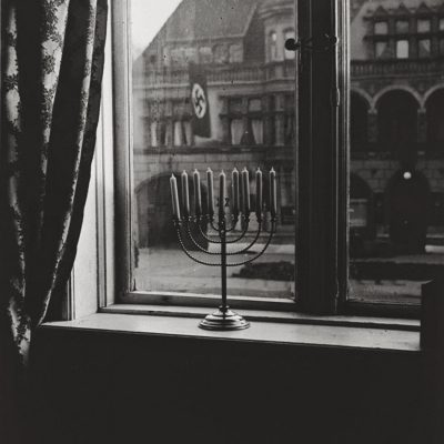 Hanukkah 1931 Germany, Rabbi Home – Rear Photo and a Message
