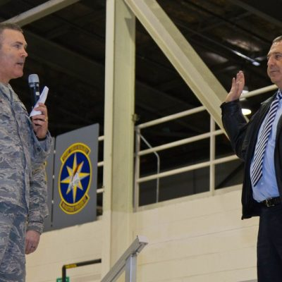 "Six years ago, Michael Harris Chancellor, Indiana University Kokomo, Took Oath ""Honorary Wing Commander"" of the 434th Air Refueling Wing at Grissom Air Base, Indiana"